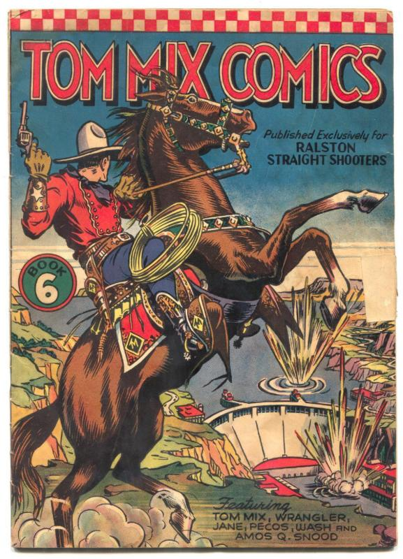 Tom Mix Comics #6 1941- Ralston Straight Shooters- Fred Meagher G+