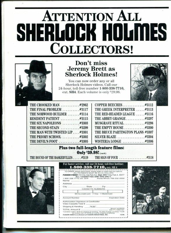 Scarlet Street #2 1991-Diana Rigg-Sherlock Holmes-horror films-FN