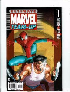 Lot of 5 Ultimate Marvel Team-Up Marvel Comic Books #1 2 3 4 5 AK2