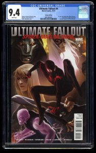 Ultimate Fallout #4 CGC NM 9.4 Djurdjevic Variant 1st Miles Morales!
