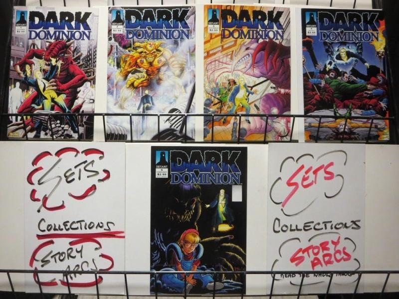 DARK DOMINION (1993 DEF) 1-5 Ditko designed