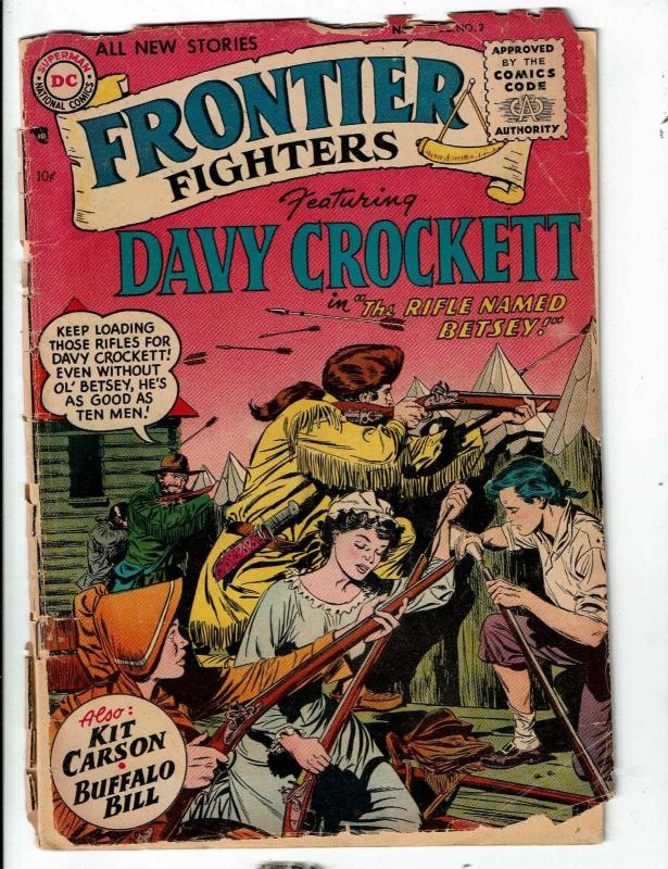 Frontier Fighters # 2 VG- DC Comic Book Davy Crocket Rifle Named Betsey JL1