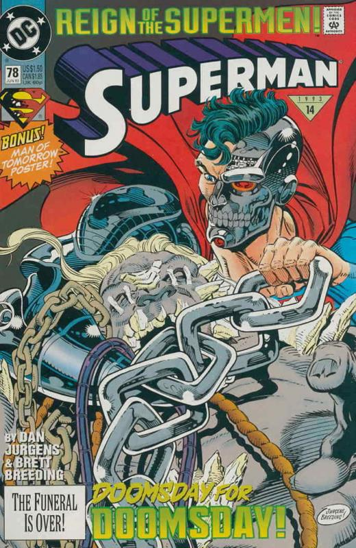 Superman (2nd Series) #78 VF/NM; DC | save on shipping - details inside