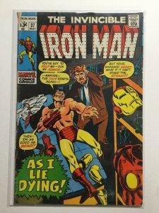 Iron Man 37 Good Gd 2.0 Water Damage Marvel