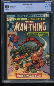 Man-Thing #20 CBCS NM/M 9.8 White Pages Spider-Man!