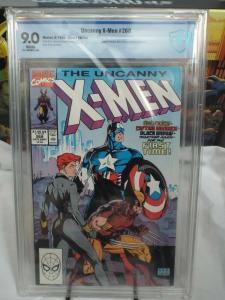 Uncanny X-Men #268 (1990) - CBCS 9.0 - Cap, Wolverine, Black Widow Cover