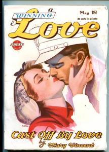 WINNING LOVE-#1-MAY 1945-PULP ROMANCE-SOUTHERN STATES PEDIGREE-vf