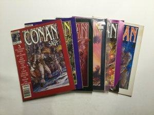 Conan Saga 1 3-14 17-42 44 46 47 Magazine Lot Very Fine Vf 8.0 Marvel Magazine
