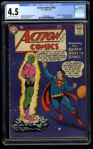 Action Comics #242 CGC VG+ 4.5 Cream To Off White 1st Braniac!  Kandor!