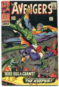 The Avengers #31 1966- The Keeper- Marvel Silver Age FN