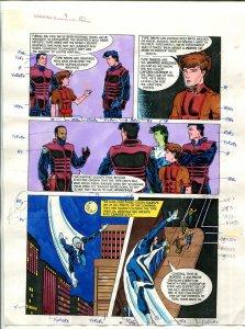 Elementals #9 Page #10 Original Color Guide Ken Feduniewicz