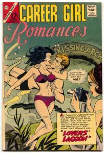 Career Girl Romances #37 1966- Lovers Lagoon- Great cover FN