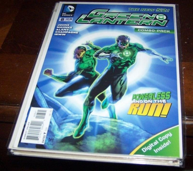 GREEN LANTERN # 8  COMBO PACK EDITION . NEW 52  SINESTRO