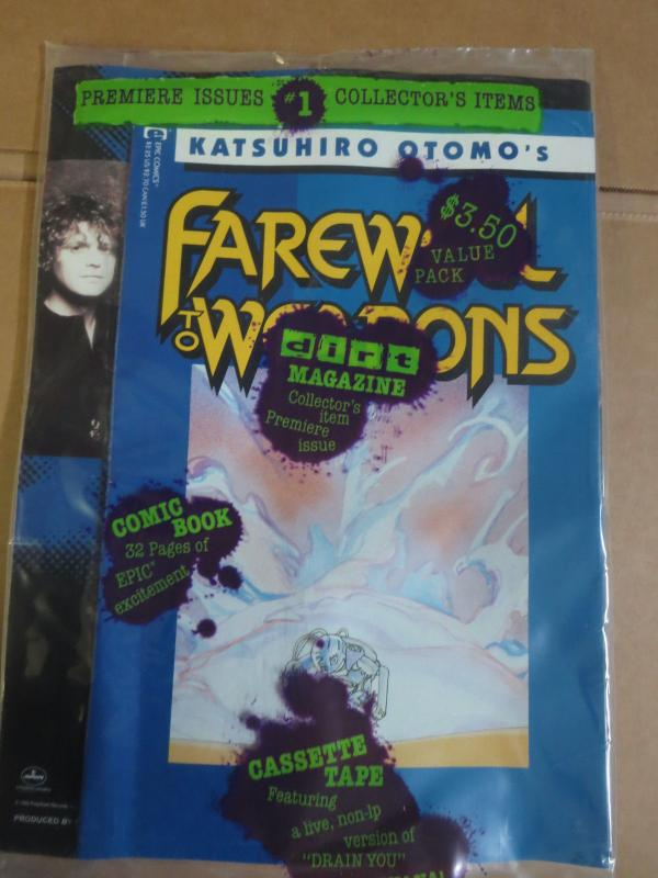 Dirt Magazine Bagged Marvel Katsuhiro Otomo Farewell to Weapons #1 Nirvana F-VF