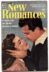 New Romances #20 1953 Golden Age romance comic-standard-photo cvr