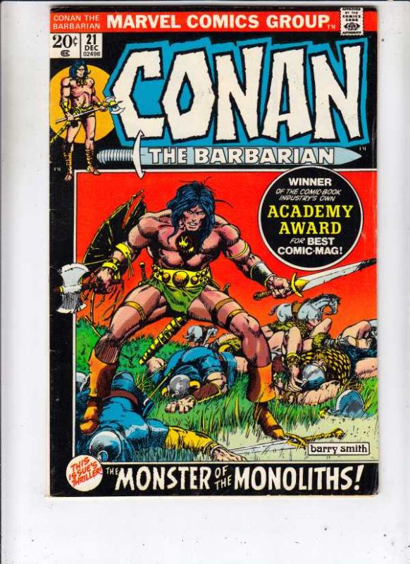 Conan the Barbarian #21 (Dec-72) FN/VF+ High-Grade Conan the Barbarian