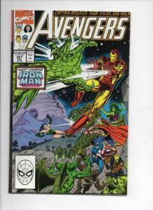 AVENGERS #327, VF+, Captain America, Thor, Iron Man, 1963 1990, Marvel