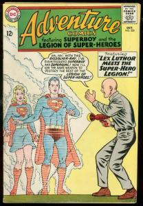 ADVENTURE COMICS #325-SUPERBOY-LEX LUTHOR-LEGION--DC VG