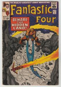 Fantastic Four #47 (Feb-66) VG Affordable-Grade Fantastic Four, Mr. Fantastic...