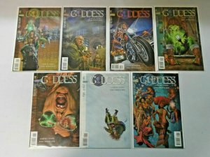 Goddess run from:#1-8 all 7 different books 8.0 VF (1995)