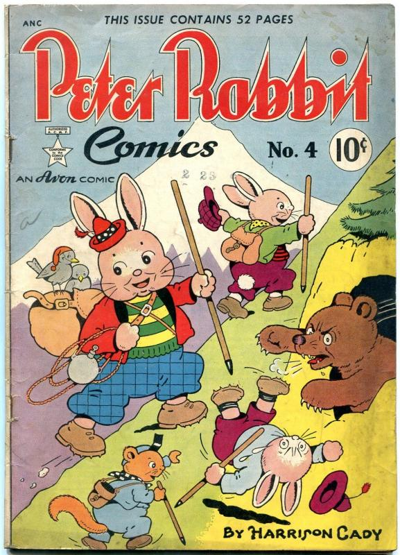 PETER RABBIT #4 1949-FUNNY ANIMAL-HARRISON CADY ART ISS VG/FN