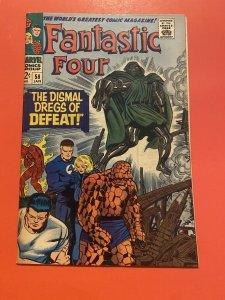 Fantastic Four #58/Silver Age Marvel Comic Book/Dr. Doom & Silver Surfer