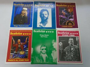 Beatlefan Magazine lot of 18 different Ringo Starr issues