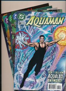 DC Comics AQUAMAN #20,21,24,25,26 (lot of 5 Comics) 1996  ~VF (HX599)