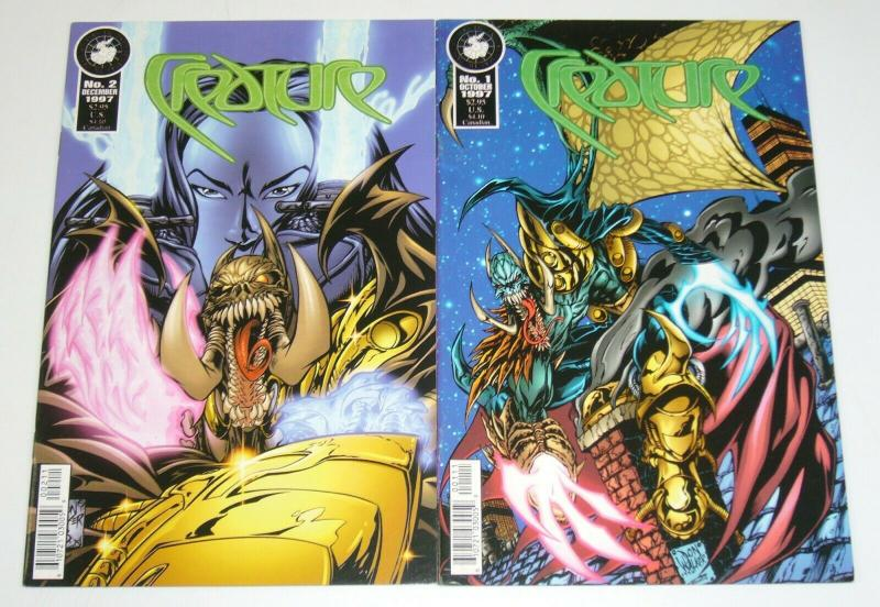 Creature #1-2 VF/NM complete series 1997 ANTARCTIC PRESS don walker comics set