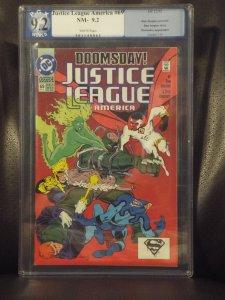 Justice League America #69  - PGX 9.2 - Doomsday Part 2