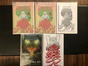 Gutt Ghost #1 *5 Book Lot* Store Variant, Ashcan, Secret Skull & Sketch FCBD