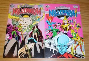 Illustrated Index to Millennium #1-2 VF complete series dc comics 1988 set