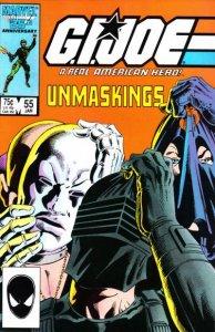 G.I. JOE #55 Marvel Comics (ungraded) stock photo / ID#B-4