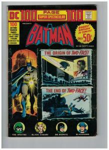 DC 100 PAGE SUPER SPECTACULAR DC-20 VG-F Batman