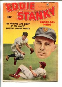 EDDIE STANKY BASEBALL HERO  1951-FAWCETT-NEW YORK GIANTS-fn