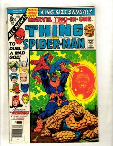 Marvel Two-In-One Annual # 2 VF Comic Book Feat. Thing & Thanos Captain Marv NP9