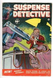 SUSPENSE DETECTIVE #1 1952 GEORGE EVANS/BERNARD BAILEY ART!
