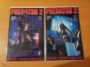 Predator 2 1-2 Complete Set Run! ~ NEAR MINT NM ~ 1991 Dark Horse Comics