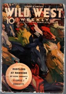 WILD WEST WEEKLY 10/29/1938-WESTERN PULP-HORSE COVER VG
