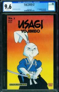 Usagi Yojimbo #1 CGC 9.6 1st issue-Stan Sakai 2009761006