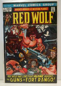 Red Wolf #1 (May 1972, Marvel) grade 8.5 VF+ flat, clean corners