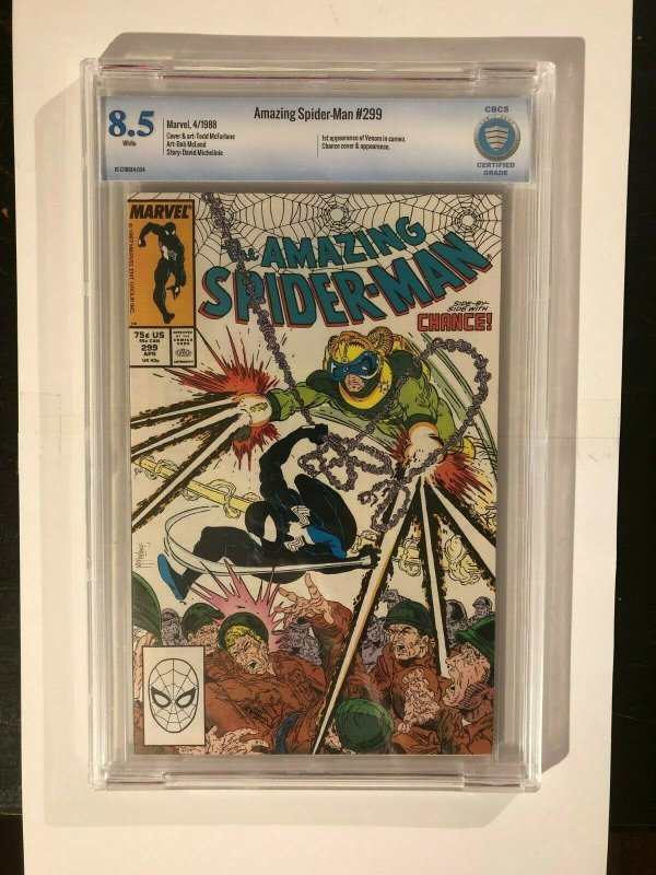 Amazing Spider-Man 299 - 1st Cameo Appearance of Venom - CBCS 8.5