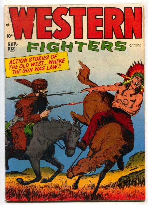 Western Fighters Vol 4 #5 1951- Golden Age Muddy Uniform VG
