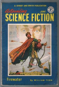 Astounding Science Fiction British Edition 6/1952-sci-fi pulp fiction-VG