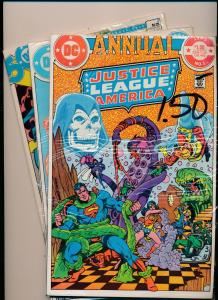 DC LOT OF 3-JUSTICE LEAGUE OF AMERICA ANNUAL 1983 #1, 1984 #2, 1985 #3 (PF152)