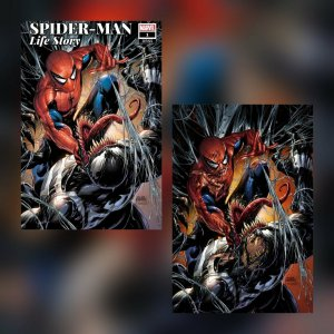 SPIDER-MAN LIFE STORY #1 TYLER KIRKHAM EXCLUSIVE VIRGIN VARIANT SET NM