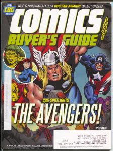Comics Buyer's Guide #1690 2012-Krause-Avengers-Buy & sell ads-FN