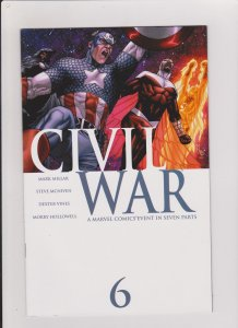 CIVIL WAR #6 VF/NM 2006 MARVEL COMICS