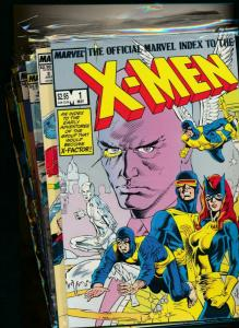 MARVEL SET-OFFICIAL INDEX TO X-MEN #1- #7 VERY FINE/NEAR MINT (PF667)