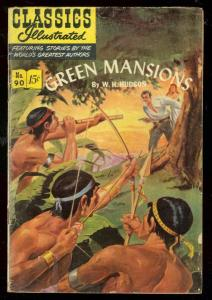 CLASSICS ILLUSTRATED #90 HRN 89-GREEN MANSIONS-JUNGLE VG